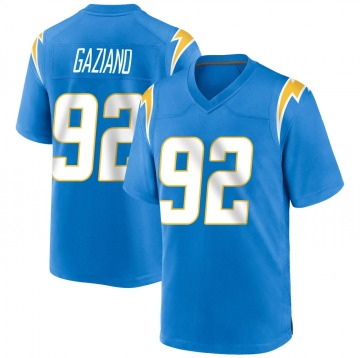 Youth Nike Los Angeles Chargers Joe Gaziano Blue Powder Alternate Jersey - Game