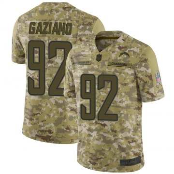 Youth Nike Los Angeles Chargers Joe Gaziano Camo 2018 Salute to Service Jersey - Limited