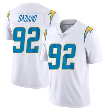 Youth Nike Los Angeles Chargers Joe Gaziano White Vapor Untouchable Jersey - Limited