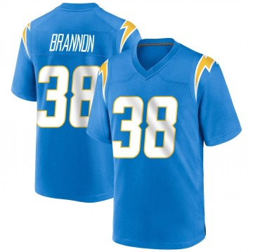 Youth Nike Los Angeles Chargers John Brannon III Blue Powder Alternate Jersey - Game