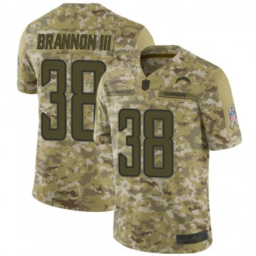 Youth Nike Los Angeles Chargers John Brannon III Camo 2018 Salute to Service Jersey - Limited