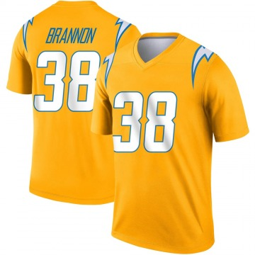 Youth Nike Los Angeles Chargers John Brannon III Gold Inverted Jersey - Legend