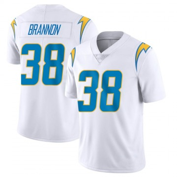 Youth Nike Los Angeles Chargers John Brannon III White Vapor Untouchable Jersey - Limited