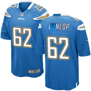 Youth Nike Los Angeles Chargers Josh Dunlop Blue Powder Alternate Jersey - Game