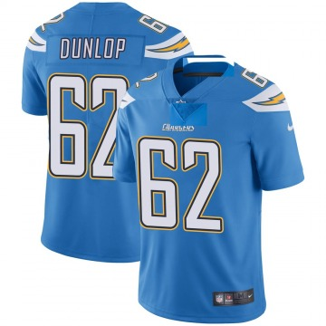 Youth Nike Los Angeles Chargers Josh Dunlop Blue Powder Vapor Untouchable Alternate Jersey - Limited