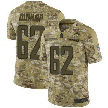 Youth Nike Los Angeles Chargers Josh Dunlop Camo 2018 Salute to Service Jersey - Limited