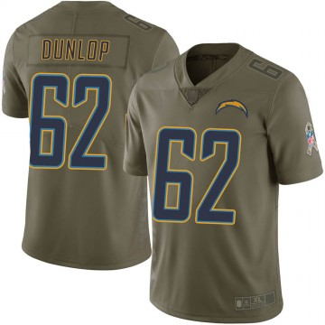 Youth Nike Los Angeles Chargers Josh Dunlop Green 2017 Salute to Service Jersey - Limited