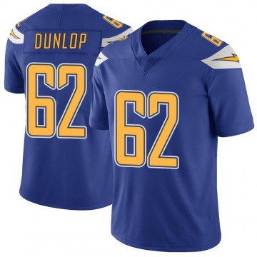 Youth Nike Los Angeles Chargers Josh Dunlop Royal Color Rush Vapor Untouchable Jersey - Limited
