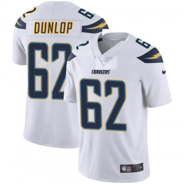 Youth Nike Los Angeles Chargers Josh Dunlop White Vapor Untouchable Jersey - Limited