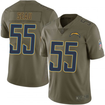 Youth Nike Los Angeles Chargers Junior Seau Green 2017 Salute to Service Jersey - Limited