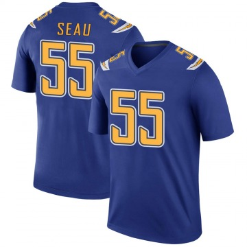 Youth Nike Los Angeles Chargers Junior Seau Royal Color Rush Jersey - Legend