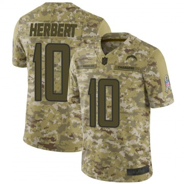 Youth Nike Los Angeles Chargers Justin Herbert Camo 2018 Salute to Service Jersey - Limited