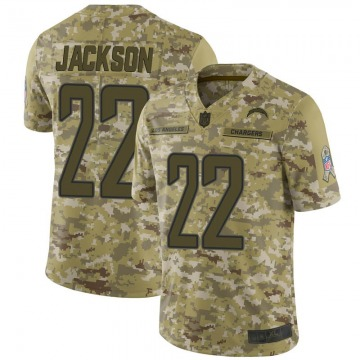 Youth Nike Los Angeles Chargers Justin Jackson Camo 2018 Salute to Service Jersey - Limited