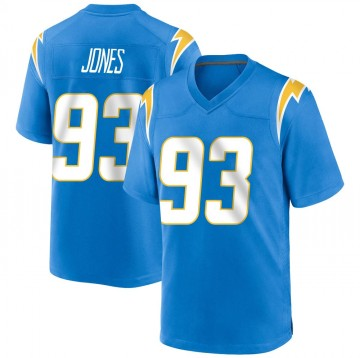 Youth Nike Los Angeles Chargers Justin Jones Blue Powder Alternate Jersey - Game