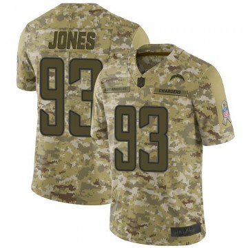 Youth Nike Los Angeles Chargers Justin Jones Camo 2018 Salute to Service Jersey - Limited