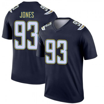 Youth Nike Los Angeles Chargers Justin Jones Navy Jersey - Legend
