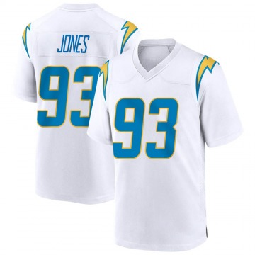 Youth Nike Los Angeles Chargers Justin Jones White Jersey - Game
