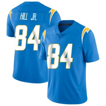 Youth Nike Los Angeles Chargers K.J. Hill Blue Powder Vapor Untouchable Alternate Jersey - Limited