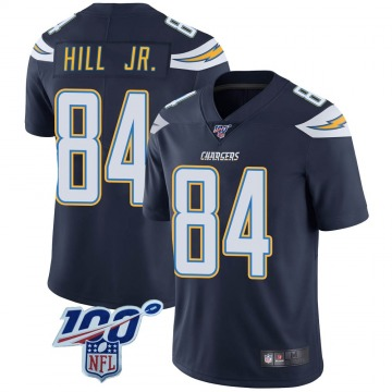Youth Nike Los Angeles Chargers K.J. Hill Navy 100th Vapor Jersey - Limited