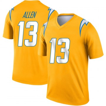 Youth Nike Los Angeles Chargers Keenan Allen Gold Inverted Jersey - Legend