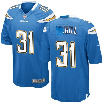 Youth Nike Los Angeles Chargers Kevin McGill Blue Powder Alternate Jersey - Game
