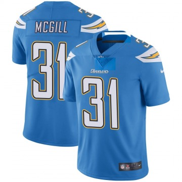 Youth Nike Los Angeles Chargers Kevin McGill Blue Powder Vapor Untouchable Alternate Jersey - Limited