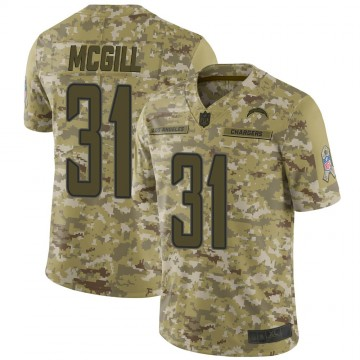 Youth Nike Los Angeles Chargers Kevin McGill Camo 2018 Salute to Service Jersey - Limited