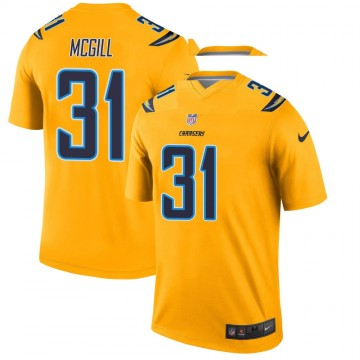 Youth Nike Los Angeles Chargers Kevin McGill Gold Inverted Jersey - Legend