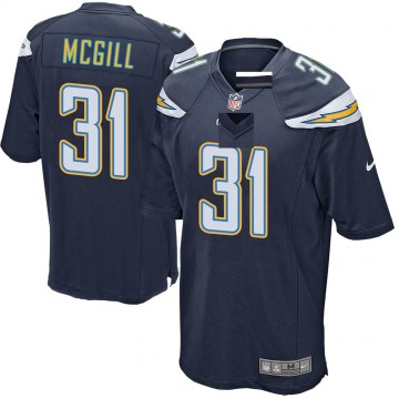 Youth Nike Los Angeles Chargers Kevin McGill Navy Team Color Jersey - Game