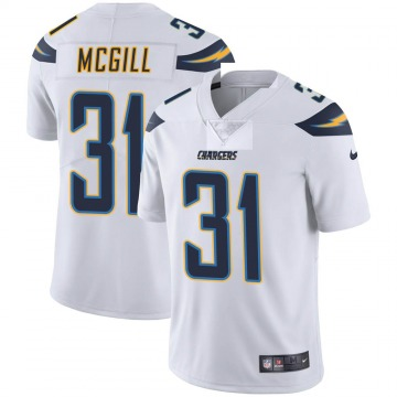 Youth Nike Los Angeles Chargers Kevin McGill White Vapor Untouchable Jersey - Limited