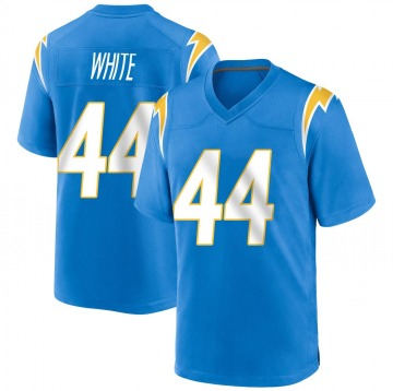 Youth Nike Los Angeles Chargers Kyzir White Blue Powder Alternate Jersey - Game