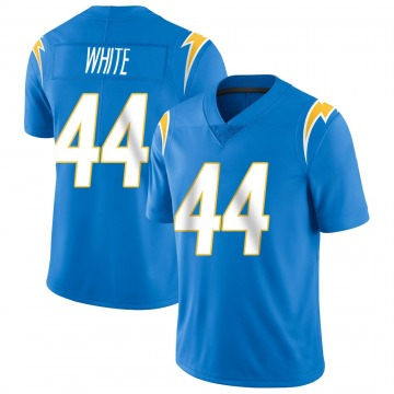 Youth Nike Los Angeles Chargers Kyzir White Blue Powder Vapor Untouchable Alternate Jersey - Limited