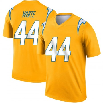 Youth Nike Los Angeles Chargers Kyzir White Gold Inverted Jersey - Legend