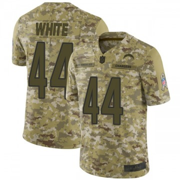 Youth Nike Los Angeles Chargers Kyzir White White Camo 2018 Salute to Service Jersey - Limited