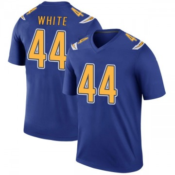 Youth Nike Los Angeles Chargers Kyzir White White Color Rush Royal Jersey - Legend