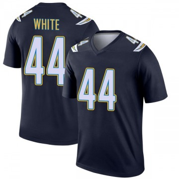Youth Nike Los Angeles Chargers Kyzir White White Navy Jersey - Legend