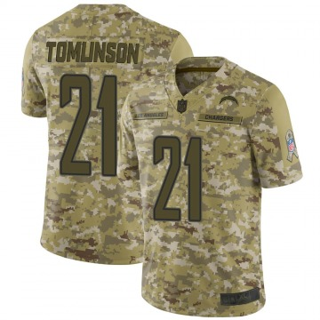 Youth Nike Los Angeles Chargers LaDainian Tomlinson Camo 2018 Salute to Service Jersey - Limited