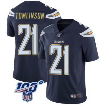 Youth Nike Los Angeles Chargers LaDainian Tomlinson Navy 100th Vapor Jersey - Limited