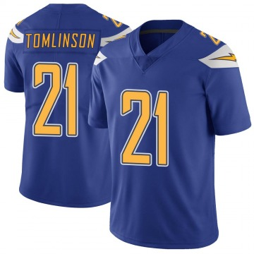 Youth Nike Los Angeles Chargers LaDainian Tomlinson Royal Color Rush Vapor Untouchable Jersey - Limited