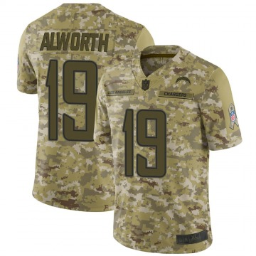 Youth Nike Los Angeles Chargers Lance Alworth Camo 2018 Salute to Service Jersey - Limited