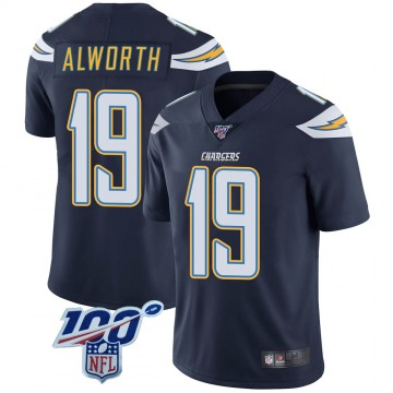 Youth Nike Los Angeles Chargers Lance Alworth Navy 100th Vapor Jersey - Limited