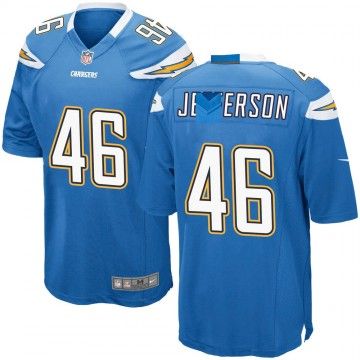 Youth Nike Los Angeles Chargers Malik Jefferson Blue Powder Alternate Jersey - Game