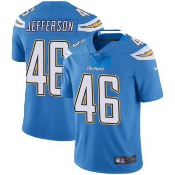 Youth Nike Los Angeles Chargers Malik Jefferson Blue Powder Vapor Untouchable Alternate Jersey - Limited