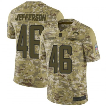 Youth Nike Los Angeles Chargers Malik Jefferson Camo 2018 Salute to Service Jersey - Limited