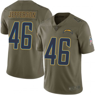 Youth Nike Los Angeles Chargers Malik Jefferson Green 2017 Salute to Service Jersey - Limited