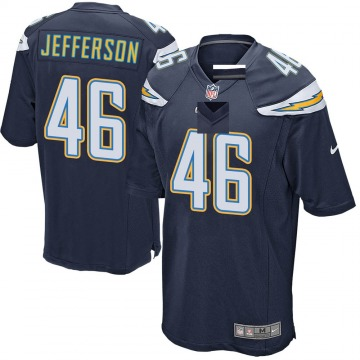 Youth Nike Los Angeles Chargers Malik Jefferson Navy Team Color Jersey - Game