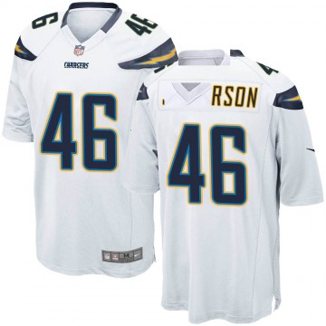 Youth Nike Los Angeles Chargers Malik Jefferson White Jersey - Game