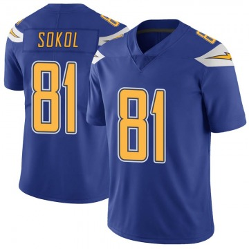 a17c3dd39 Youth Nike Los Angeles Chargers Matt Sokol Royal Color Rush Vapor  Untouchable Jersey - Limited