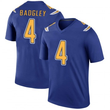 Youth Los Angeles Chargers Michael Badgley Royal Color Rush Jersey - Legend