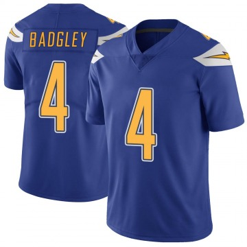 Youth Los Angeles Chargers Michael Badgley Royal Color Rush Vapor Untouchable Jersey - Limited